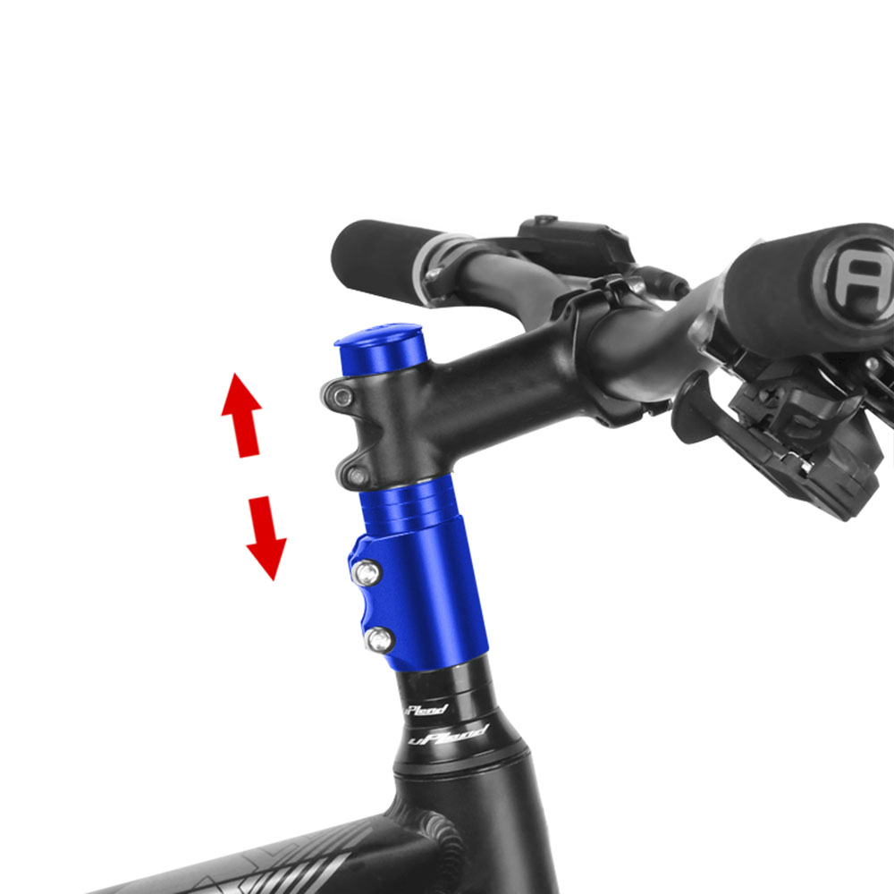 124mm*28.6mm Aluminum Alloy Bike Handlebar Fork Stem Riser Rise Up Extender Extension Heads Up Bicycle Adaptor Durable Part Bike image