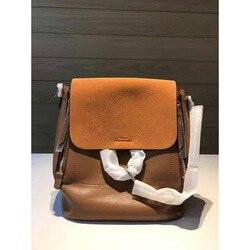 Ozhouzhan роскошный новый стиль Faye Caramel Рюкзак первый слой женская сумка из коровьей кожи