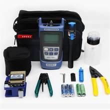 Kit d'outils FTTH à fibres optiques FC-6S compteur d'énergie optique à couperet à fibres 15km localisateur de défauts visuels