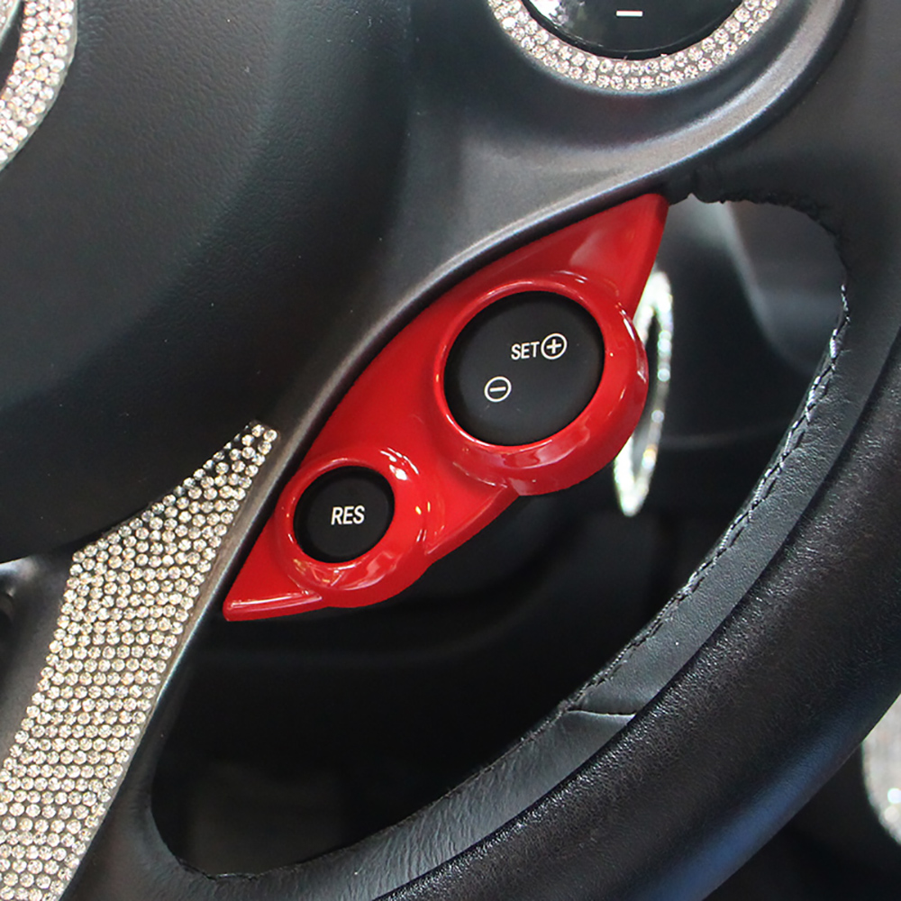 Steering Wheel Switch Button Audio Cruise Control Button Sticker Cover Trim For <font><b>SMART</b></font> <font><b>Fortwo</b></font> 453 forfour <font><b>451</b></font> Car <font><b>Accessories</b></font> image