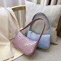 Frauen Casual Schulter Messenger Taschen PU Leder Reine Farbe Kette Tote Geldbörsen Jugend Damen Einfache Vielseitige Tasche