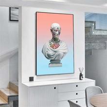 Абстрактная вапорволновая скульптура холст художественные плакаты