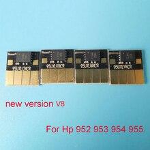 V8 версия 954 954XL чип автоматического сброса для hp officejet pro 7740 8210 8710 8720 8730 чернильный картридж
