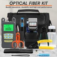 FTTH fiber optik alet kiti FC 6S Fiber Cleaver optik güç ölçer 5km görsel hata bulucu sıyırma pense