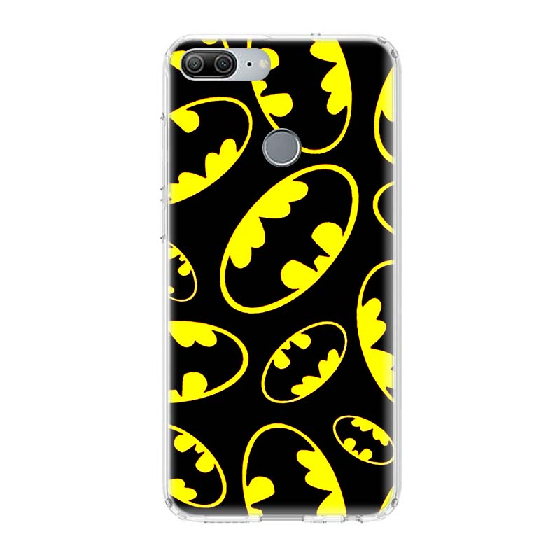 Batman Superhero TPU Phone Cases for Huawei Honor 8X 20 9 10 Lite 8A 10i 20i 8S V20 Y5 Y6 Y7 Y9 2019 Coque Cover Capa in Half wrapped Cases from Cellphones Telecommunications
