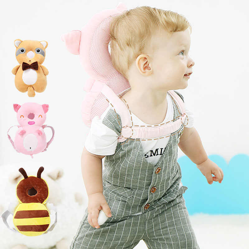 Baby Head Protection Pillow Toddler Headrest Pad Neck Protector Cute Cartoon Nursing Drop Resistance Cushion Baby Backpack Mat