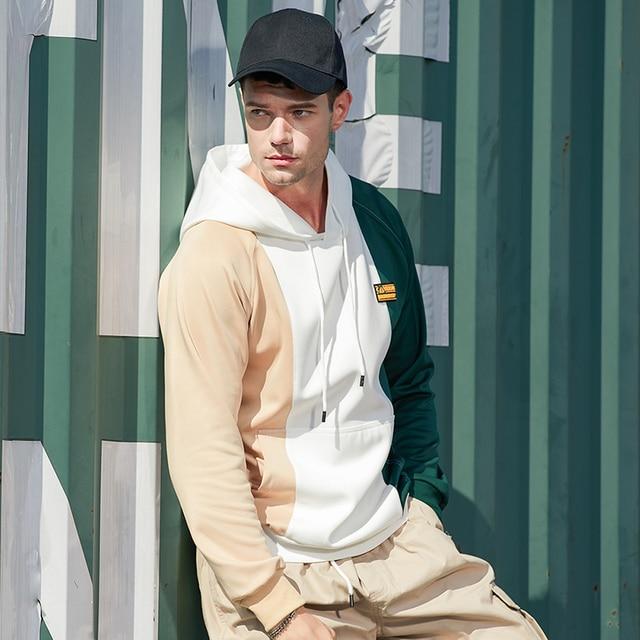 New Trend Sweatshirt Hoodies & Sweatshirts Unisex color: WY71JM Green|WY71JM White