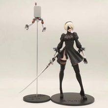 28cm anime nier: automata 2b yorha no.2 tipo b figura de ação deluxe versão novo estilo pvc luta modelo figura brinquedos boneca presente