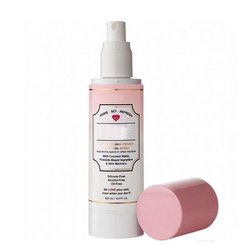 New Makeup Replenishing Primer Setting Spary Set 3in1 Hangover 120ML Makeup Poreless Primed & Peachy 40ml