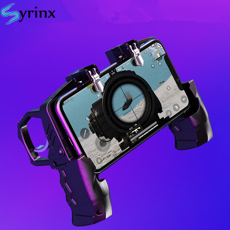 K21 For Pubg Controller For Mobile Game Shooter Trigger Fire Button For Ios Android Phone Gamepad Joystick PUGB Helper Holder(China)