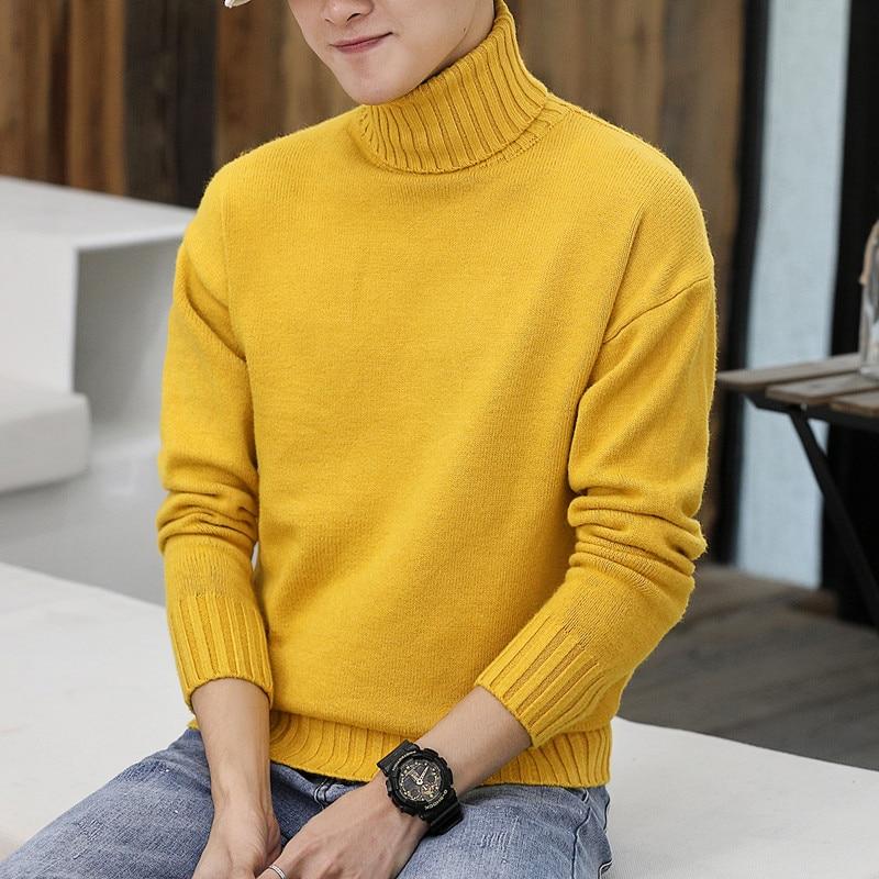 Fa5501A 2019 New Autumn Winter Men Fashion Casual Warm Nice Sweater Warm Men Turtleneck Sweater Korean Clothes