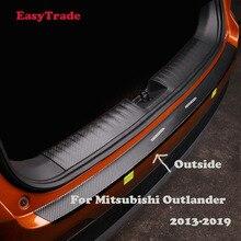Car Rear Door Sill Plate Protector Anti-Scuff Trunk outside door sill sticker For Mitsubishi Outlander 2013-2019 Accessories недорого
