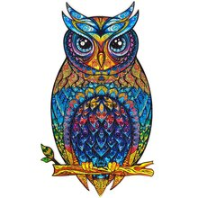 Unique Wooden Jigsaw Puzzles Owl Lion Fox Animals Shape For Adults Kids Wooden Puzzle Games Wood DIY Puzzles Crafts Gifts Toys