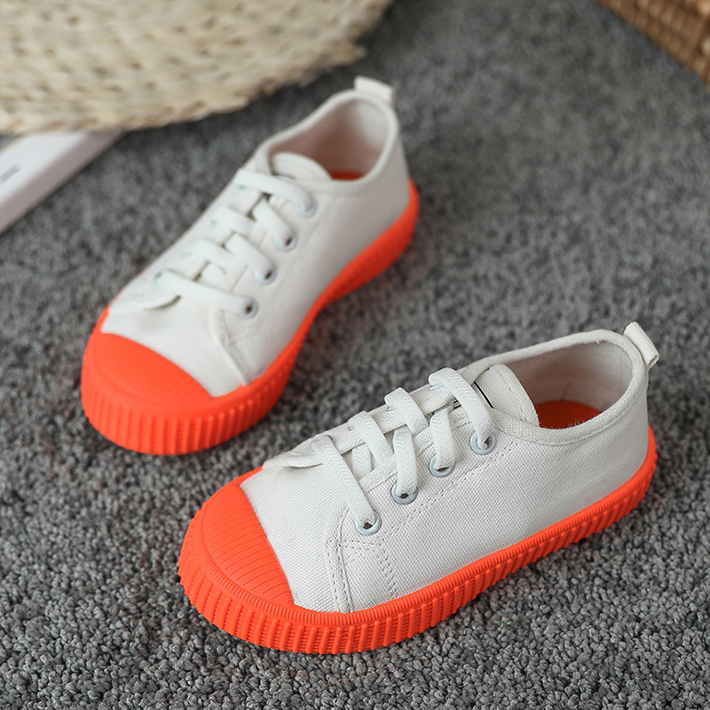 2020 New Spring Autumn Baby Toddler Shoes Korean Style Non-slip Boys Girls Canvas Casual Shoes Candy Color Kids White Shoes