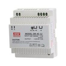 DR 45 45W פלט יחיד 5V 12V 15V 24V דין מעקה החלפת ספק כוח DR 45 5 DR 45 12 DR 45 15 DR 45 24 כוח שנאי