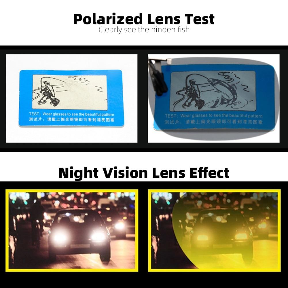 VIVIBEE Mirror Flip up Clip on Sunglasses Men Polarized Lens Metal Clips Night Vision Safe Driving