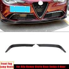 Luz antiniebla delantera para coche, cubierta decorativa de molduras de Marcos, pegatina, accesorios de Exterior para Alfa Romeo Giulia, sedán, Base de 4 puertas, 2015-2020