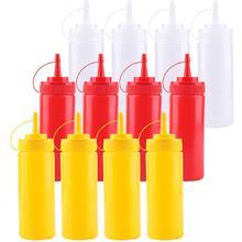 12 шт. 200 мл кухонная бутылка для приправ, соус, уксус, диспенсер для кетчупа, кухонные гаджеты, контейнер для специй