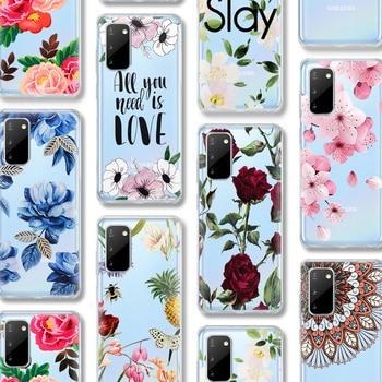 ciciber Flower Rose Case For Samsung Galaxy A51 A50 S20 S10 A71 A70 A40 S9 S8 A30 S7 S10e Ultra Note 10 9 8 Edge Plus Silicone karl lagerfeld for samsung galaxy s6 s7 edge s8 s9 s10 plus lite note 8 9 10 a30 a40 a50 a60 a70 m10 m20 phone case cover etui