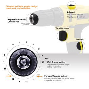 Image 3 - Электрическая отвертка GOXAWEE 21 в/12 В, Беспроводная электрическая дрель, перезаряжаемый МНОГОФУНКЦИОНАЛЬНЫЙ электроинструмент с литий ионным аккумулятором