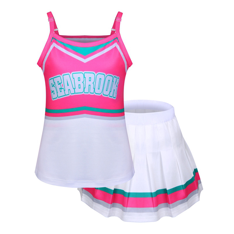 2020-Fashion-Cheerleader-Costume-Halloween-Cosplay-Girls-Costume-Fancy-Dress-Camisole-with-Mini-Pleated-Skirt-for
