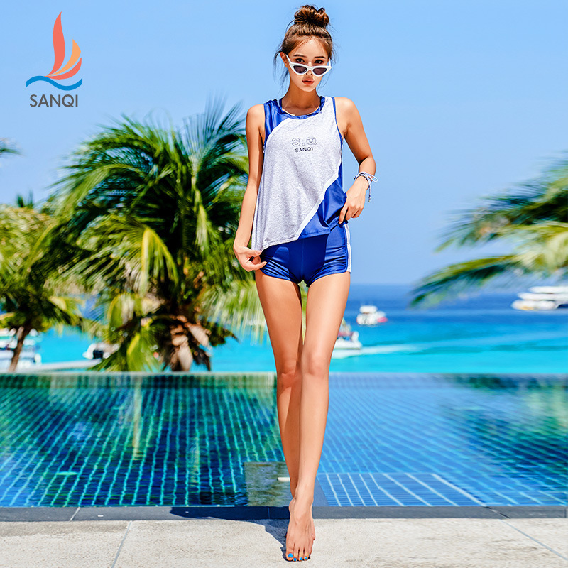 Tankini Large Sizes Women's Swimsuit Separate Swimsuits Swim Suits Bikini For Women 2019 Swimming Suit Split Pants Three Piece