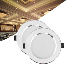 Dimmable LED Recessed Ceiling Downlight 7W Light Lamp 220V With Driver Spot Light Indoor Lighting For Home Office Decoration led recessed downlight 24w indoor ceiling light 300 600mm spotlight led panel lamp 85 265v with driver for lighting hotel office page 1