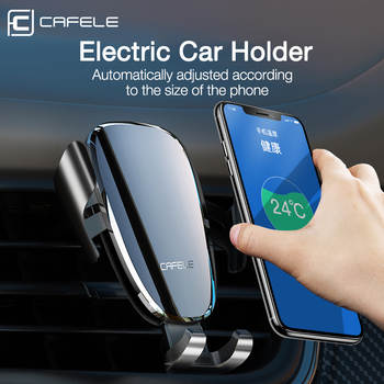 CAFELE Electric Car Phone Holder Stand Air Vent Mount GPS Automatic Intelligent Mobile Phone Holder Universal Holder in Car