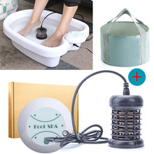 Foot Massage Ionic Detox Foot Bath Aqua Cell Spa Machine Ion Cleanse Ionic Foot Bath Massage Detox Foot Detox Arrays Aqua Spa(China)