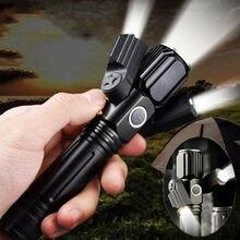 PYMH 20000LM полицейский тактический военный светодиодный фонарь T6 светодиодный 3 режима 18650 фонарик масштабируемый 3 головной свет