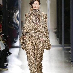 Novo solto cintura alta blusa lápis calças de duas peças define leopard-print lanterna manga terno casual férias feminino terno streetwear