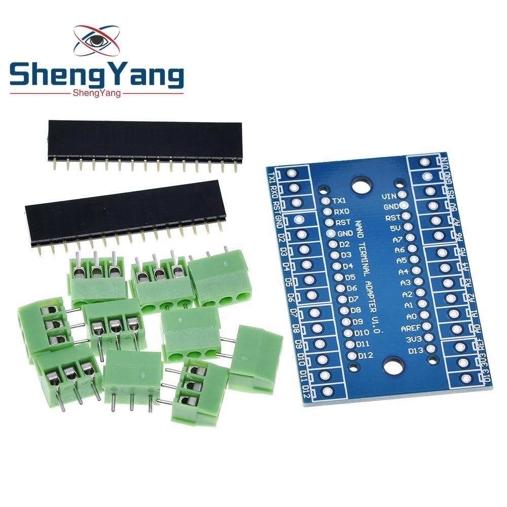 Контроллер ShengYang NANO 3,0, терминальный адаптер для Arduino NANO терминальная Плата расширения Nano Версия 3,0