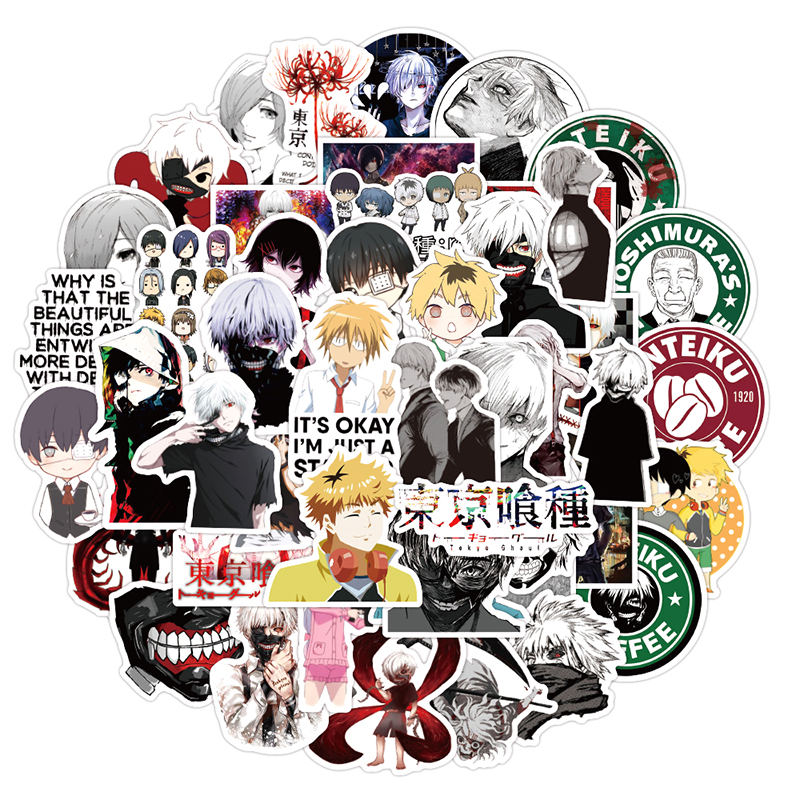 Tokyo Ghoul Stickers - 10/30/50 pcs Pack