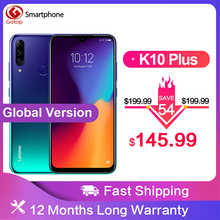 Global Version Lenovo K10 Plus Snapdragon 632 Android 9.0 Mobile Phone 6.217 4050mAh 4GB RAM 64G ROM 4G LTE Smartphone