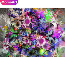 MomoArt Diamond Painting Butterfly Embroidery Full Drill Square Rhinestone Mosaic Flowers Home Decoration