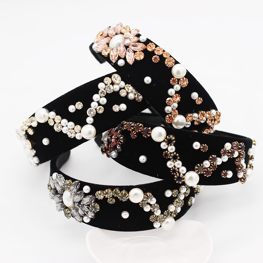 Star Headband Velvet Baroque Weding Crystal Bridal Rhinestone Hair Accessories Alice Band Bridesmaid Hairband Jewelled Hair Band in Women 39 s Hair Accessories from Apparel Accessories