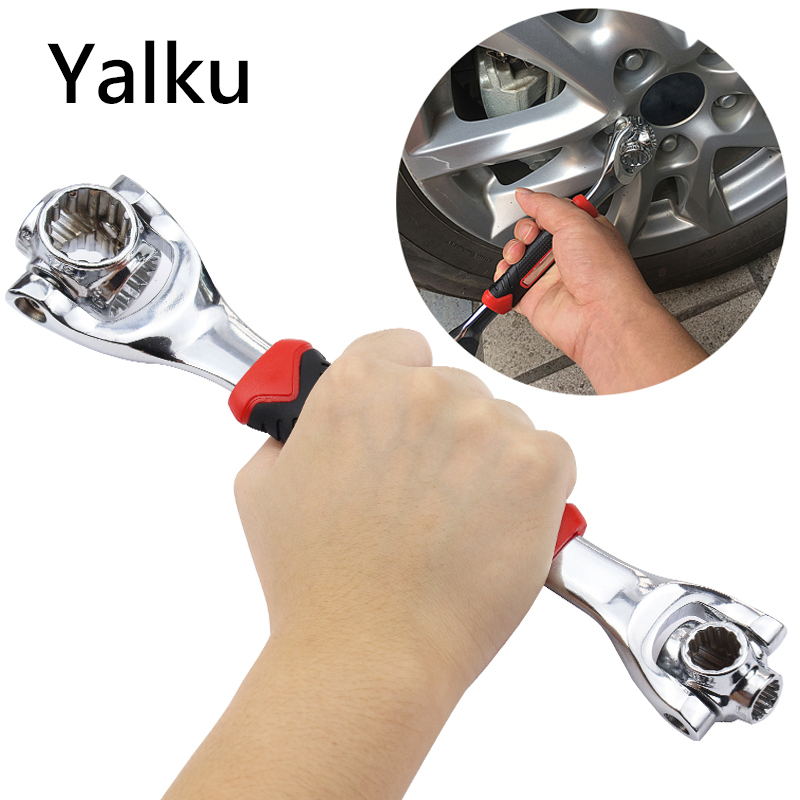 Yalku 48 In 1 Torque Wrench Universal Tiger Wrench Key 12-teeth 8-10-11-13-14-16-17-19MM Torquemeter Dynamometric Key Tiger Key