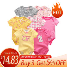 7PCS/lot 2020 Baby Rompers Girl Clothes Newborn Cotton Baby Boy Clothes Jumpsuits Jumpsuit Ropa bebe Short Sleeve Newborn 0 12M