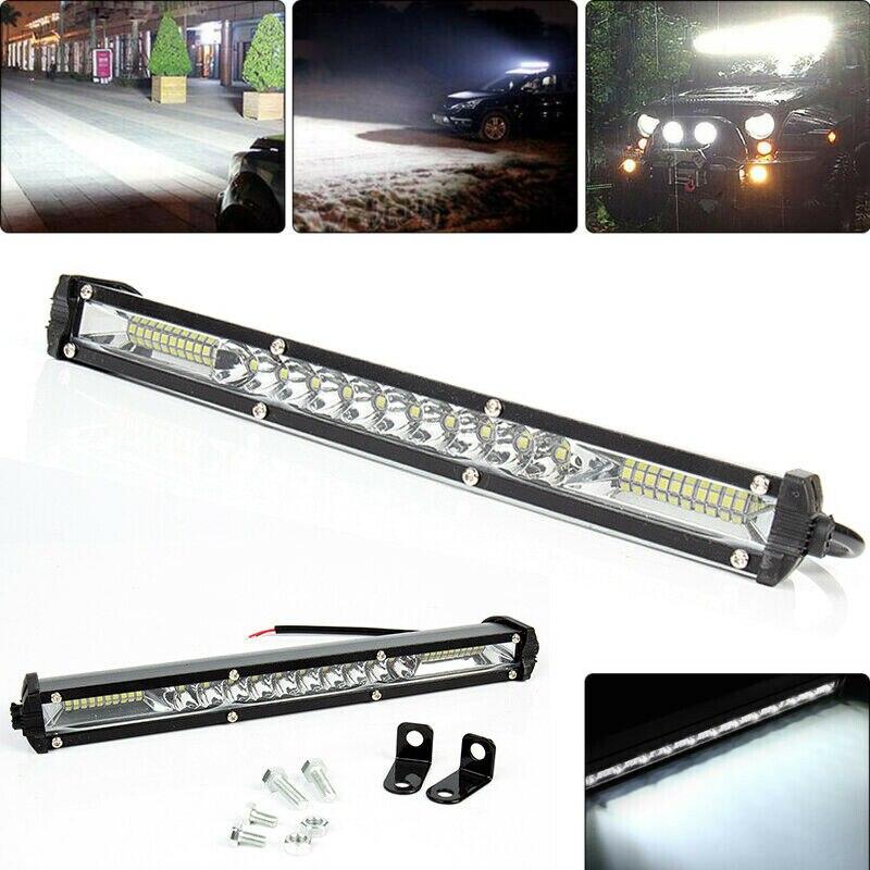 12-24V LED Light Bar Flood Spot Lights 90W Work Fog Lamp Offroad Truck SUV Car Camper Light