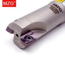 MZG BAP300RC10 10 100 1T Hartmetall Einfügen Eingespannt Fräsen Schneiden Schulter Rechtwinklig Präzision Fräser Ende Mühle Schaft