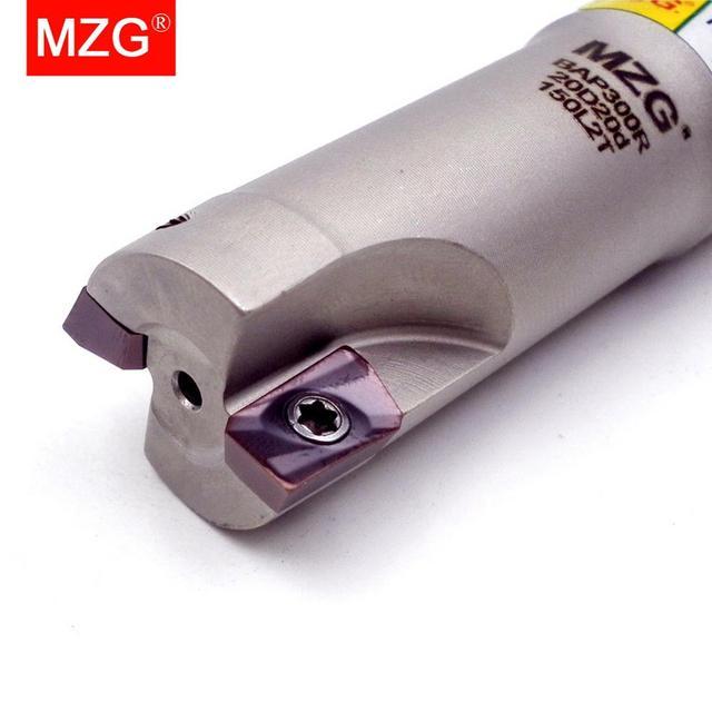 MZG inserto in metallo duro con inserto in metallo duro, spalla di taglio ad angolo retto, fresa di precisione