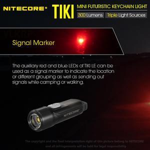 Image 5 - 100% מקורי NITECORE טיקי GITD טיקי LE 300 Lumens מיני עתידני keychain אור USB נטענת