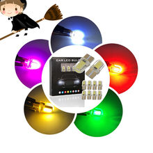 Nieuwe Collectie T10 COB LED Auto Silicone Crystal LED Breedte Lamp W5W Auto-accessoires Licentie Wedge Reading Plaat Licht Dropshipping(China)