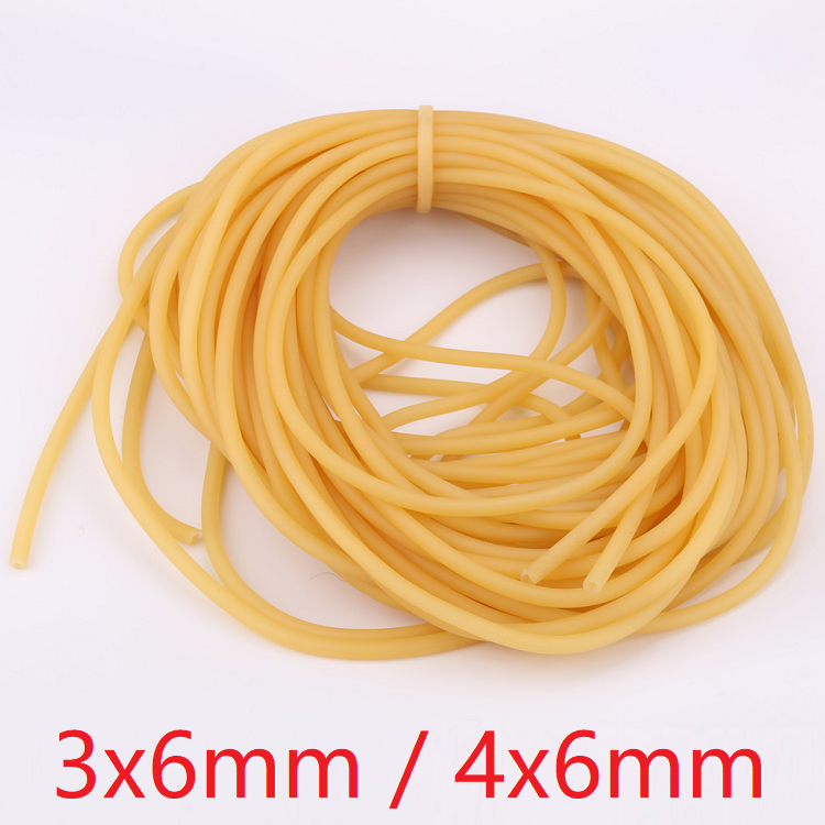 ID 3mm 4mm X 6mm OD Nature Latex Rubber Hoses Flexible Pipe High Resilient Elastic Surgical Medical Tube Soft Slingshot Catapult