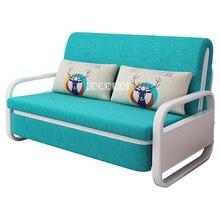 KFLL8868 складной экономичный двойной использование 1,5 м диван одно хранение для спальни удаляемый моющийся сборка хлопок лен металлический каркас