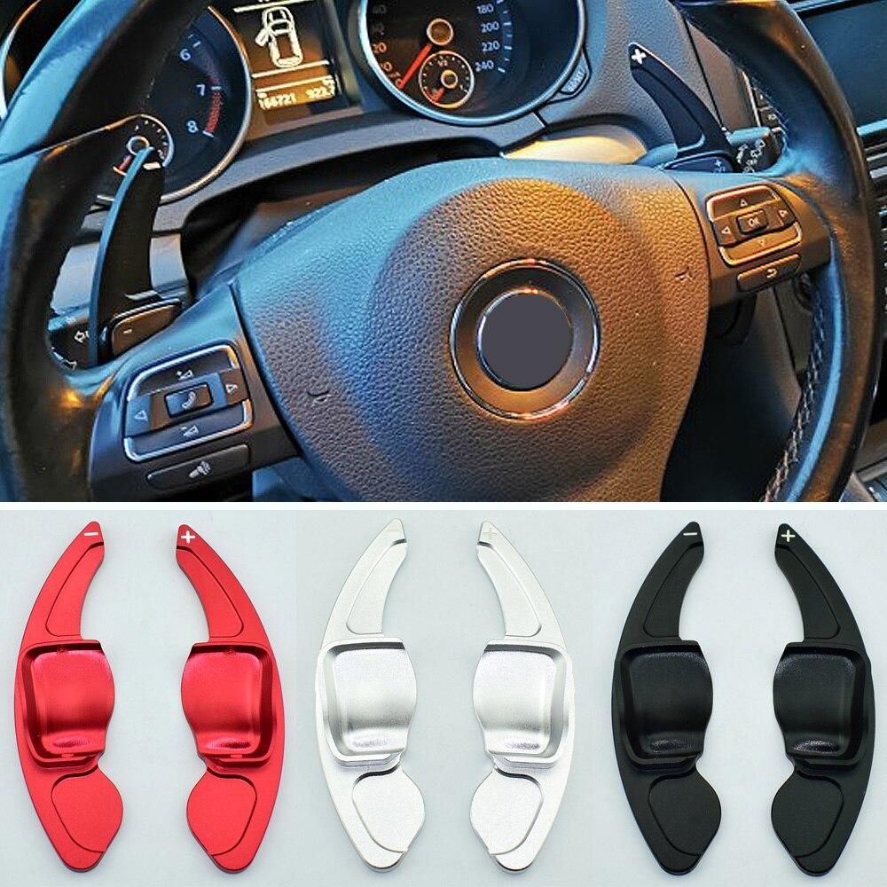 For VW Golf 5 6 MK6 GTI R Jetta MK5 Passat B6 B7 CC Polo Sharan Tiguan Seat Leon DSG Steering Wheel Paddle Extension Shift Cover