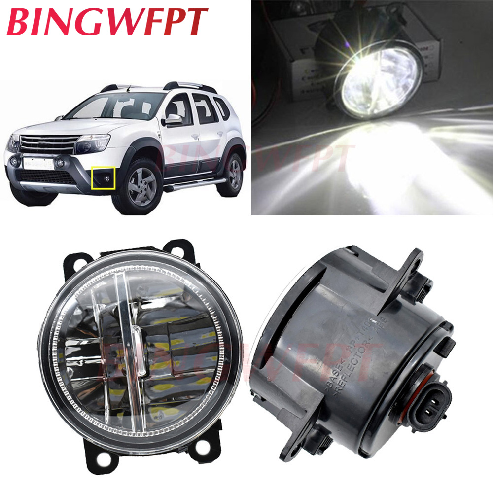 2pcs For <font><b>Renault</b></font> TWINGO GRAND SCENIC <font><b>MASTER</b></font> TRAFIC LOGAN Laguna DUSTER Kangoo <font><b>LED</b></font> Fog Lights H11 Fog Lamp Assembly Halogen lamp image