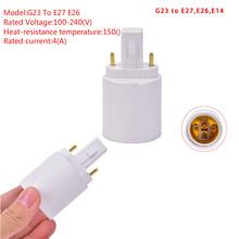 1 sztuka G23 do E27 E26 podstawa gniazda LED żarówka halogenowa Adapter lampy konwerter tanie tanio CN (pochodzenie) G23 To E27 E26 Base Socket