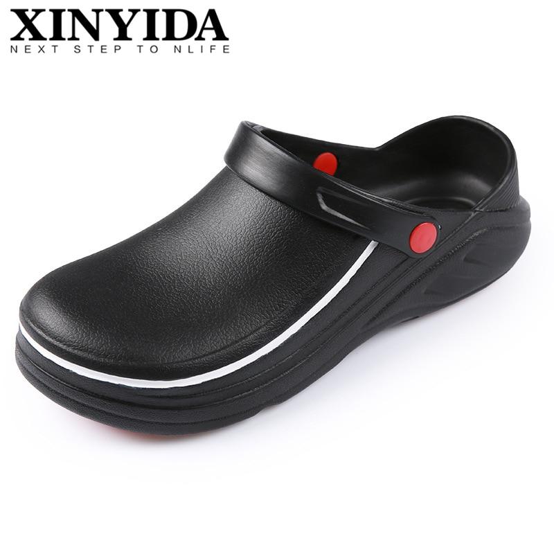 Zapatos de cocina antideslizantes zuecos de Chef multifuncional restaurante jardín seguridad trabajo zapatos médicos para hombres mujeres tamaño 36-45