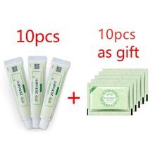 10pcs  Zudaifu Skin Psoriasis Dermatitis Eczematoid Eczema Ointment Treatment Psoriasis Cream Skin Care Cream